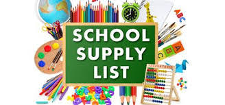 2021 - 2022 Supply Lists