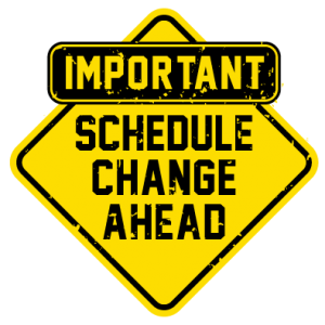 IMPORTANT - Bell Schedule Changing January 19
