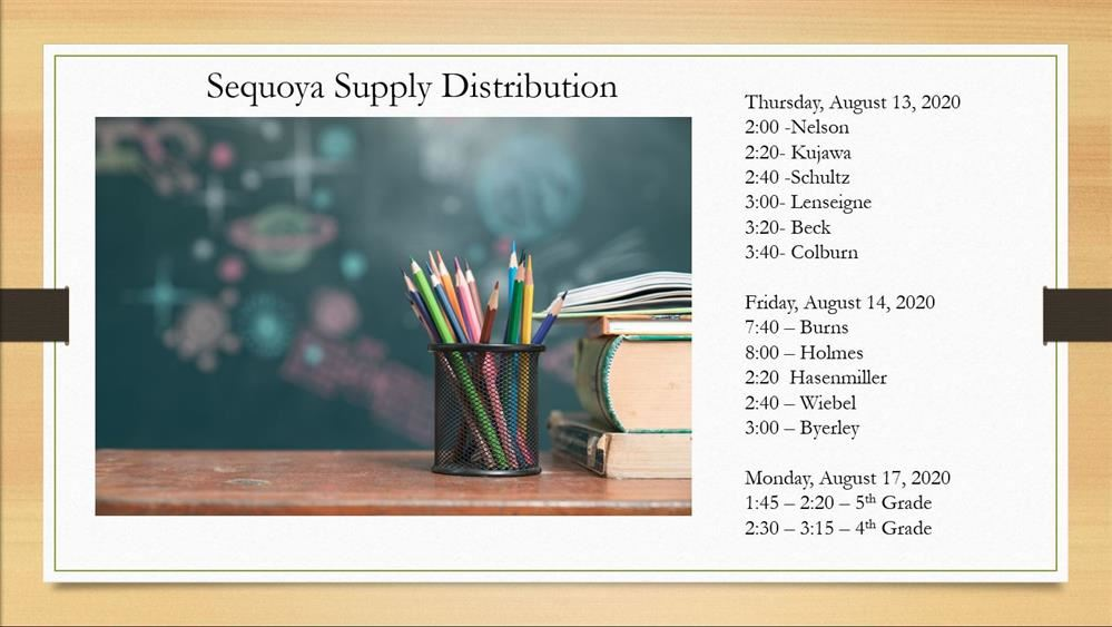 Supply Distribution for Sequoya