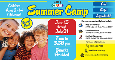 Kids Club Summer Camp Opens June 15